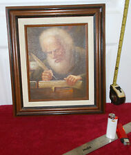 """Signed, Late 20th. Century portrait study, old man with quill.."""" BALLARD"""""""