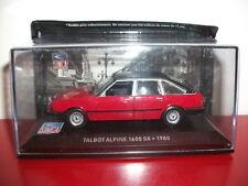 simca talbot alpine 1600 SX 1980 1/43 Neuf altaya IXO