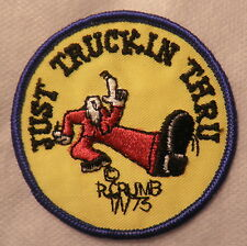 JUST TRUCKIN THRU PATCH ORIGNAL R CRUMB 70s VINTAGE BIKER HIPPIE NEW VEST JACKET