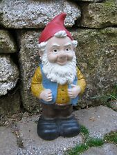 Gnomes, Garden Gnome Cement Statue, Painted Concrete Figure, Gneil the gnome,