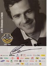 Romano Lemm HC Lugano 2008-09 top ORIG. sign. hockey sobre hielo + G 5414