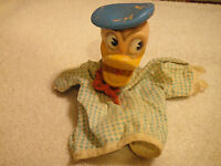 Vintage Donald Duck Finger Puppet Gund Mfg. Co. Walt Disney Productions Stamped