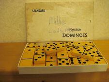Vintage Dominoes Butterscotch Bakelite in box Marblelite