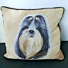 Shih Tzu Dog Tapestry Pillow Robert J May Pure Country Weavers
