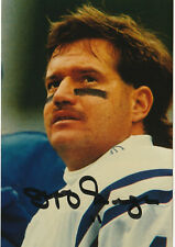 Jeff George Signed photo frame size 8x10 COA D20