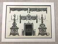 1931 Antique Architectural Print Luton Hoo Neo Classical Interior Fixture Design