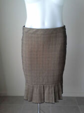 Plaids & Checks Straight, Pencil Hand-wash Only Knee-Length Skirts for Women