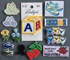 LOT OF SMALL EMBROIDERED etc  PATCHES Sew-on & Iron-On MIXED VINTAGE LOT Rare