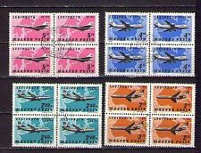 STAMPS HUNGARY MAGYAR AIRPLANES BOEING TU IL AVIATION PLANE