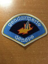 SWISS SWITZERLAND PATCH POLICE GENDARMERIE ( cantone GENEVA ) - ORIGINAL
