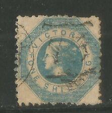 Victoria 1859 Queen Victoria 1sh blue (25) used