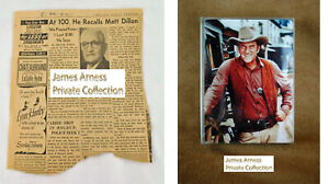 "James Arness Gunsmoke Marshal Dillon ""Playing Poker ...Matt Dillon"" / Card Combo"