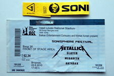 METALLICA SLAYER MEGADETH ANTHRAX ORIGINAL TICKET BIG 4 SOFIA BULGARIA DVD 2010