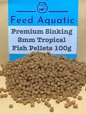 Premium high nutritional value slow sinking 2mm tropical fish pellets 100g pouch