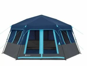 8-Person Instant Hexagon Tent w Instant setup technology for easy 2-minute setup