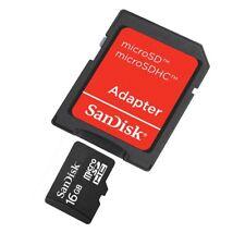 Scheda Di Memoria Memory Card Microsd HC 16GB + Adattatore Sd Sandisk linq
