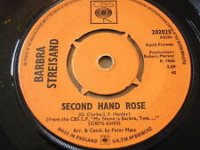 """Barbra Streisand-segunda mano Rose 7"""" Vinilo"""