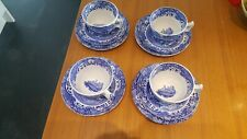 Vintage Blue & White Spode Side cups saucers and Plates - Italian Design C.1816