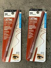 2 Pack Maybelline Lasting Drama Automatic Pencil Eyeliner 900 Rusty Terracotta