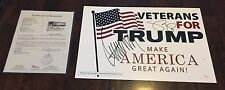 Donald Trump & Mike Pence Dual Signed Campaign Placard JSA Letter Christmas Gift