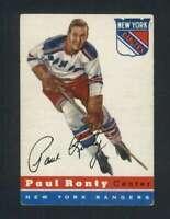 1954-55 Topps #15 Paul Ronty EX/EX+ NY Rangers 108192