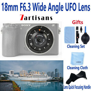 7artisans 18mm F6.3 Wide Angle Lens for FUJIFILM X Canon EOS Sony E M4/3 Camera