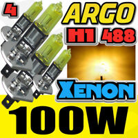 H1 Yellow Headlight Foglight Xenon Car Halogen 100w Car Fog Spot Light Bulbs 12v