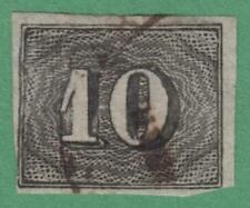 Brazil #21 used 10R imperf numerals cv $35