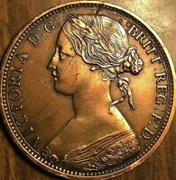 1863 GREAT BRITAIN VICTORIA PENNY COIN - Fantastic example!