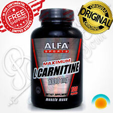 L CARNITINE 1000 mg 100 caps Energy Gain Muscle Weight Loss Metabolism Boost