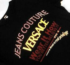 T-SHIRT man  slimfit vintage  VERSACE Jeans Couture  TG.XL made Italy NEW! Rare
