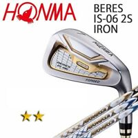 2-STAR HONMA GOLF JPN BERES IS-06 IRON SET #4,5,6,7,8,9,10,11,Aw,Sw ARMRQ X 2018