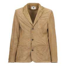 KIRED by Kiton S/S 2017 TOMMY Leather Suede Jacket 3XL 48Us 58Eu Light Brown