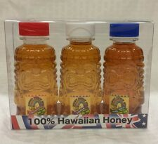 HAWAIIAN HONEY MACADAMIA NUT OHIA LEHUA RAINBOW BLOSSOM 3 x 3OZ TIKI SET HAWAII