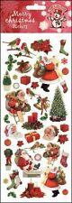 STICKER SHEET - Christmas Xmas Robins and Santa  748