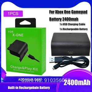 1PCS/Set 2400mAh Rechargeable Battery Pack With USB Cable For XBOX ONE