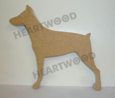 Doberman Dog Shape In Mdf (140mm x 18mm thick)/Wooden Blank Craft Shapes