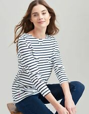 Joules Womens Harbour Printed Jersey Top Shirt - SPOT STRIPE Size 10