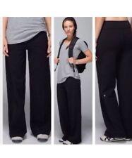 Lululemon Women's Black Still Wide Leg Athletic Yoga Pant Size 2