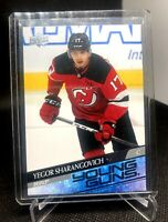 2020-21 UPPER DECK YOUNG GUNS YEGOR SHARANGOVICH ROOKIE RC  #489  NJ DEVILS