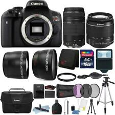 Canon EOS Rebel T6 Camera w/ 18-55mm Lens , 75-300mm Lens , Canon Case & Kit