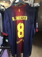 Nike 2012 2013 Iniesta XL FC Barcelona Home Shirt Jersey Camiseta Kit NWT Messi