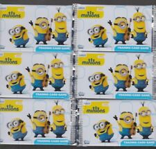 LES MINIONS 6 booster  30 images TRADING CARDS