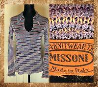 VTG Missoni L/S Knit Top Multicolor Size 42