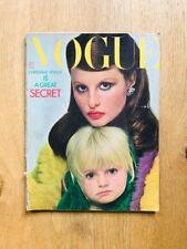 Vogue UK December 1971 Apollonia van Ravenstein Christa Peters Helvin CADBURY