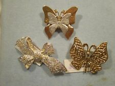 Vtg NOS Retired Premier Designs  Butterfly Bow Brooches
