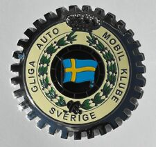 SWEDISH AUTO CLUB CAR GRILLE BADGE VOLVO MERCEDES BMW PORSCHE AUDI FORD EMBLEM