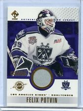 2001-02 PACIFIC PRIVATE STOCK FELIX POTVIN GAME USED GEAR WORN JERSEY