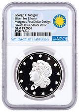 (2017) Smithsonian Morgan First Silver Dollars 1 oz. NGC GEM Proof SKU47349