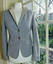 FABIANA FILIPPI  Merino Wool/Silk/Cashmere Blend Textured Blazer/Jacket - UK12
